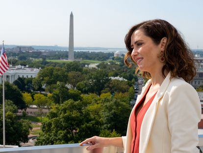 Isabel Díaz Ayuso, este miércoles en Washington.