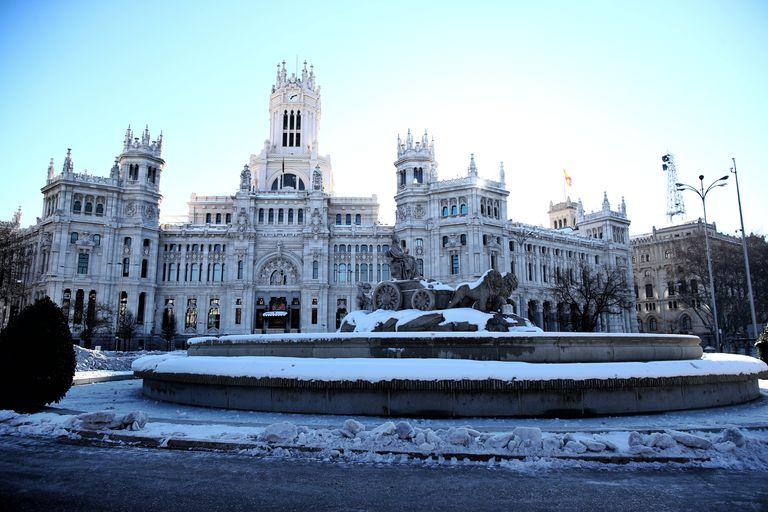 Plaza de Cibeles en Madrid, el pasado lunes 11 de enero.