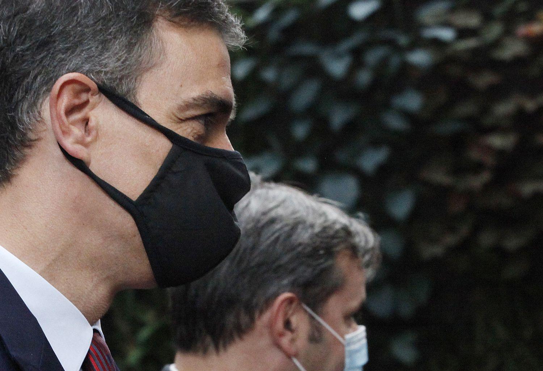 Pedro Sánchez, a su llegada este domingo a la cumbre de Bruselas.