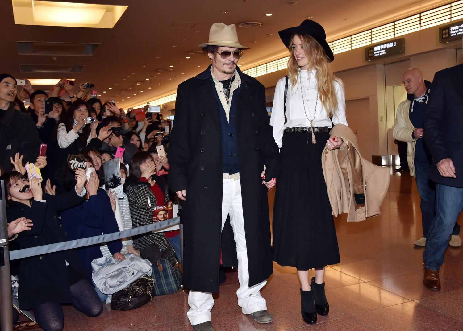 Johnny Depp y Amber Heard, en 2015.