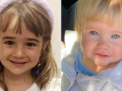 Olivia y Anna en sendas imágenes cedidas por la familia.