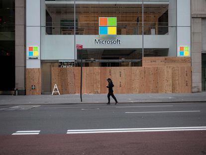 Una tienda de Microsoft  en Nueva York.