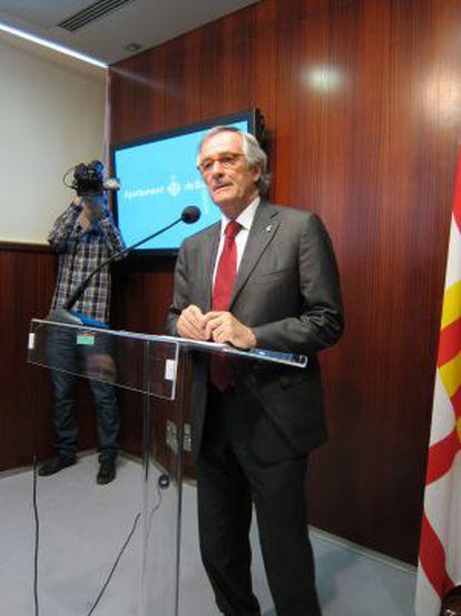 El candidato a la alcaldía de CiU en Barcelona, Xavier Trias