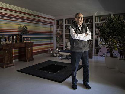 Javier Solana, ayer en su casa en Madrid.