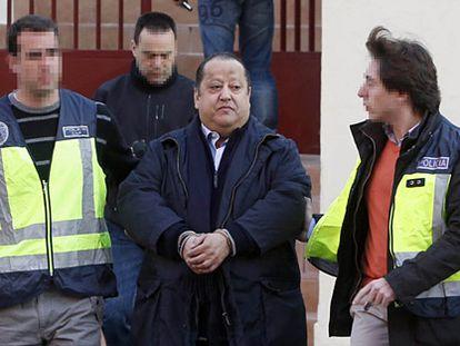 Alfonso Tezanos, tras ser detenido.
