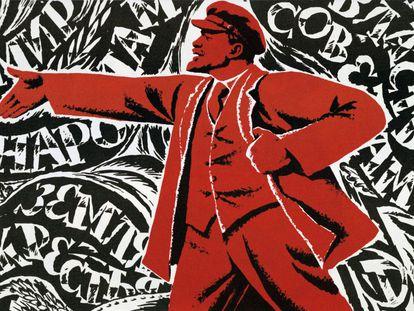 Revolución rusa, octubre de 1917. Vladimir Ilyich Lenin Ulyanov. Póster comunista del que se desconoce la fecha.
