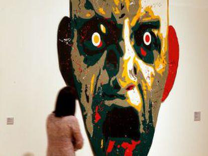 'Cabeza-collage I', de José Manuel Ciría, en el IVAM.