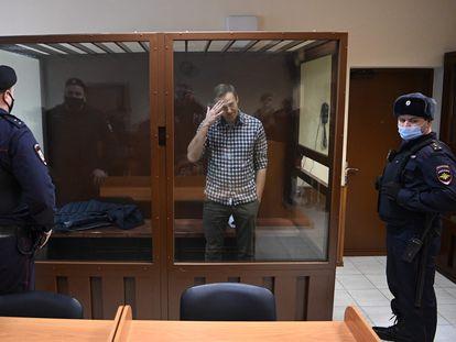 Navalni, el pasado 20 de febrero, en un tribunal de Moscú.