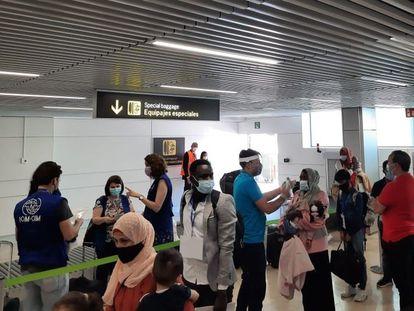 Un grupo de 88 refugiados llegan desde Amán (Jordania) a España.