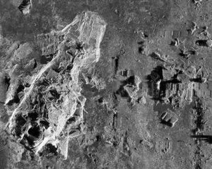 Escombros del Titanic en las fotografías tomadas con sónar.