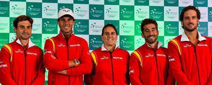 Ferrer, Nadal, Conchita Marc y Feliciano López.