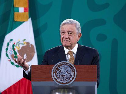 El presidente Andrés Manuel López Obrador, en su conferencia del jueves.