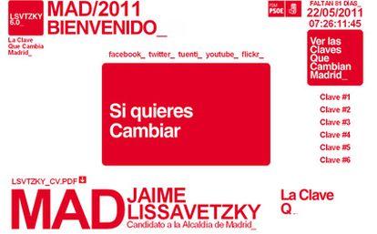 Así es la nueva web presentada por el candidato socialista para aunar su presencia en las redes sociales.