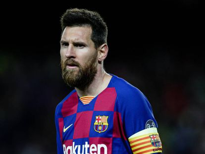 Messi, durante un partido de esta temporada.