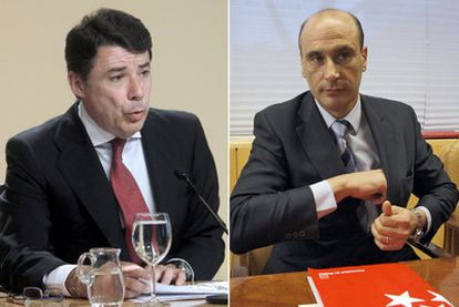 Ignacio González, a la izquierda, y Sergio Gamón.
