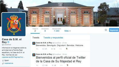 El perfil de la Casa Real en Twitter