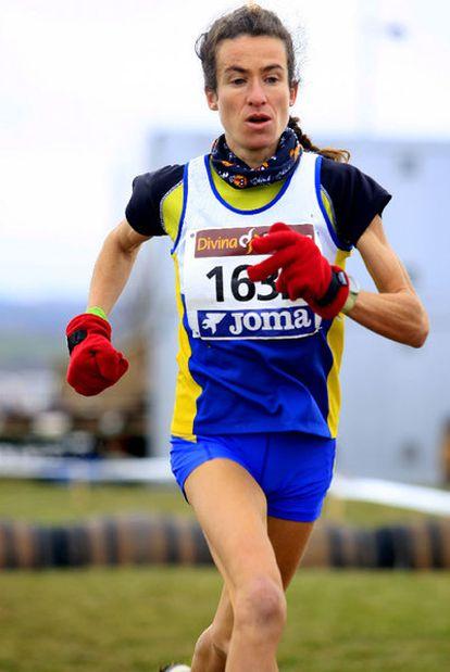 Elena Espeso, en una competición en Haro (Logroño).