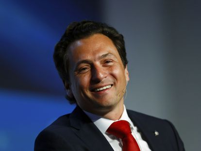 Emilio Lozoya Austin durante un evento Houston en marzo de 2014.