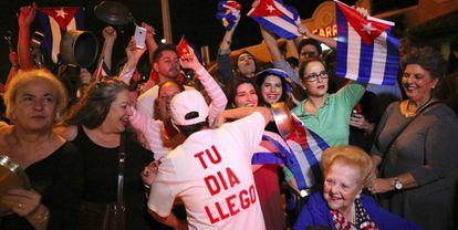 Celebración de la comunidad cubana en Miami.