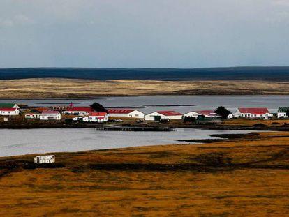 Goose Green, la segunda mayor ciudad de las Islas Malvinas.
