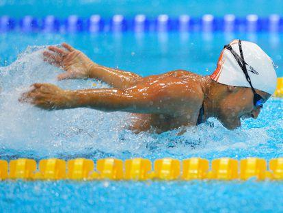 La nadadora Teresa Perales, en una prueba de 50 metros mariposa.