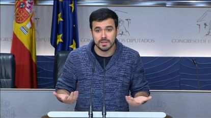 "Alberto Garzón califica de ""injustas"" las críticas de Iglesias a Cayo Lara por cuestionar a Espinar"