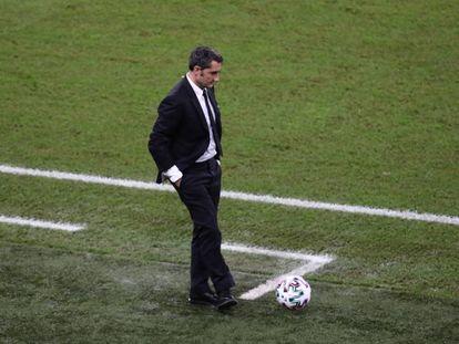 Valverde, durante el Barcelona-Atlético del pasado jueves.