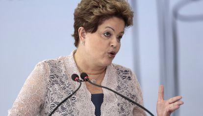 La presidenta de Brasil, Dilma Rousseff hace unos días.