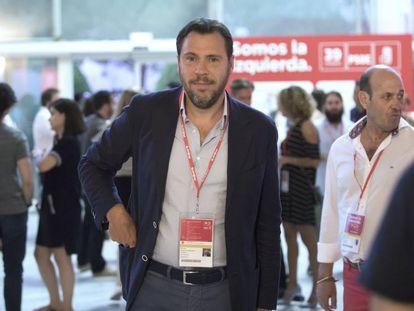 El portavoz del PSOE y alcalde de Valladolid, Óscar Puente.