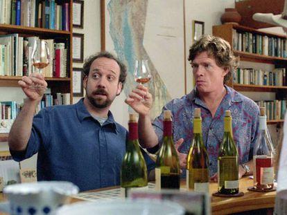 Un fotograma de la película 'Entre copas'