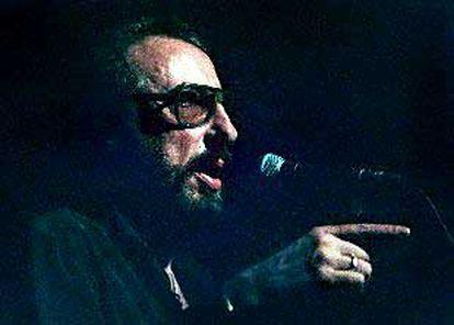 El humorista Eugenio, en la sala Luz de Gas de Barcelona, en su reaparición en mayo pasado.