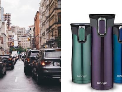 Este termo Contigo mantiene tus bebidas a la temperatura ideal, gracias a su cierre hermético
