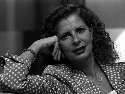 Carmen Alborch durante una entrevista en su etapa de ministra de Cultura.