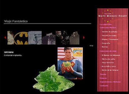 Objetos que se exponen en Madrid, en una imagen tomada de la web de la coleccionista.