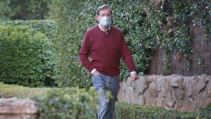 Mariano Rajoy saliendo de su casa, este miércoles, en Madrid.