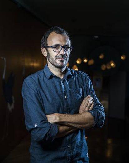El escritor Isaac Rosa, este miércoles, en Madrid.