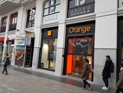 Una tienda de Orange en el centro de Madrid.