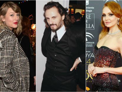Taylor Swift, Asier Etxeandia y Cristina Castaño.