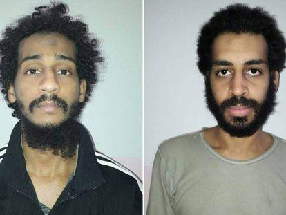 Foto facilitada por las Fuerzas Democráticas Sirias de El Shafee el-Sheikh (izquierda) y Alexanda Kotey (derecha).