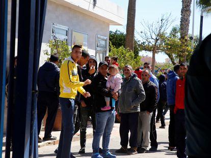 Entrada del Centro de Estancia Temporal de Inmigrantes (CETI) de Melilla. F. G. GUERRERO (EFE)