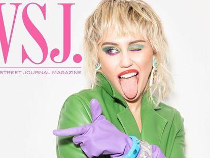 Miley Cyrus en la portada del 'Wall Street Journal Magazine'.