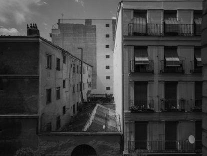 Fotografía perteneciente a la serie 'Lavapiés, julio-agosto, 2014', de Manolo Laguillo.