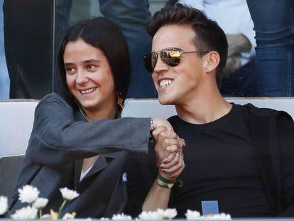 Victoria Marichalar y Gonzalo Caballero, en el Mutua Madrid Open, el pasado mayo. En vídeo, el momento de la cogida a Gonzalo Caballero, este sábado.