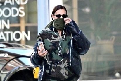 La modelo Irina Shayk en Nueva York.