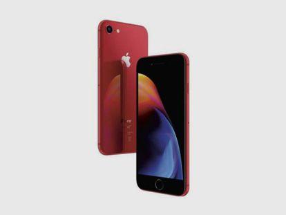 Apple iPhone 8 rojo de 64Gb, uno de los artículos rebajados en la campaña de ofertas previas al 'Black Friday'.