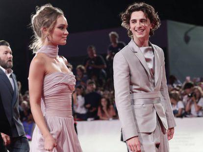 Lily-Rose Depp y Timothée Chalamet, en el Festival de Cine de Venecia, el pasado septiembre.