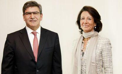 El consejero delegado del Banco Santander, José Antonio Álvarez y la presidenta, Ana Botín.