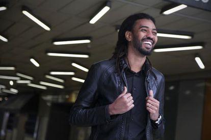 El músico y actor Ibrahim Ahmed, ayer en Madrid.