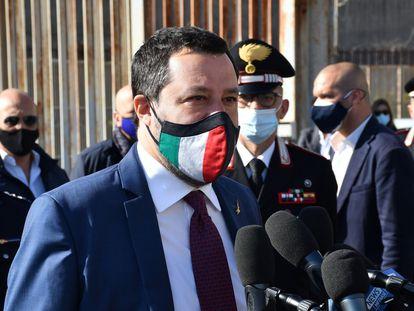 Matteo Salvini, el sábado en Sicilia.