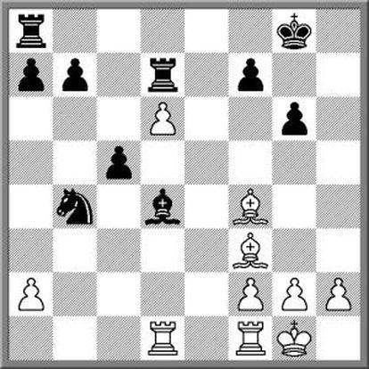 Posición tras 23 ..Cb4.